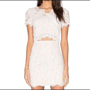 Women Lace Cropped Top Size Small From Revolve.